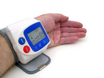 Blutdrucküberwachungsgerät Stockbild