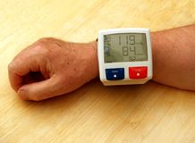Blutdruck-Lehre Lizenzfreies Stockfoto