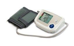 Blutdruck-Monitor tonometer auf einem weißen Hintergrund Lizenzfreies Stockfoto