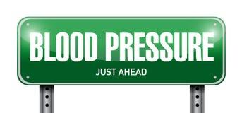 Blutdruck-Verkehrsschild-Illustrationsdesign Stockfotos