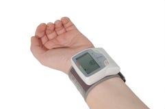 Blutdruckmessen Stockfotografie
