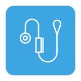 Blutdruckmesser lokalisierte Ikone Stockfotos