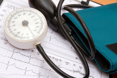 Blutdruckmessung Stockfotos