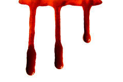 Blutflecken Stockfoto