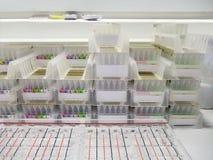 Blutgruppekarten Stockbild