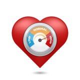 Bluthochdruckkonzept Auch im corel abgehobenen Betrag lizenzfreie abbildung