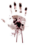 Blutig Hand-drucken Sie gemalt getrennt Stockbilder