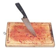 Blutig und Messer lizenzfreies stockbild