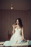 Blutige Braut Stockfoto