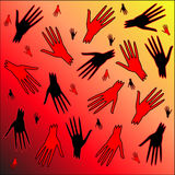 Blutige Hände Lizenzfreie Stockbilder