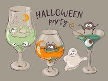 Blutige Halloween-Cocktails Stockfotografie
