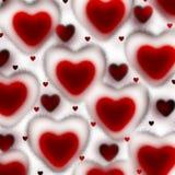 Blutige Herzen auf einem weißen Hintergrund lizenzfreie stockfotos