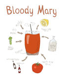 Blutige Mary Cocktail Recipe Stockbild