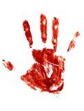 Blutige Spur einer menschlichen Hand Stockbild