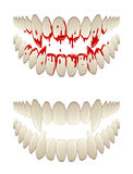 Blutige Zähne Stockfotos