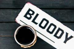 Blutiger Getränkwein Stockfotografie