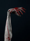 Blutiger Handzombiedämon Lizenzfreies Stockbild