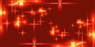 Blutiger Hintergrund des Vektors mit glänzenden Leichtmetallsternen lizenzfreie abbildung