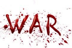 Blutiger Wort Krieg stockfoto