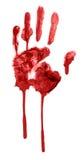 Blutiges handprint Stockbild