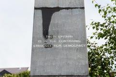 Blutiges Sonntag Monument Sonntags stockfotos