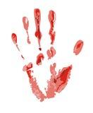 Blutiges Spurenbild Stockbild