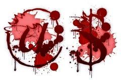 Blutiges Zeichen @ $ lizenzfreie abbildung