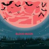 Blutmond lizenzfreies stockbild