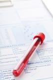 Blutprobe Lizenzfreies Stockbild