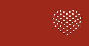 Blutrote Herz-Postkarte Lizenzfreie Stockbilder