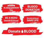 Blutspendtag und Blutspendenillustrationssatz Stockbild