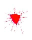 Blutspritzen stockfoto