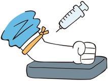 BlutStichprobenprüfung und Spritze stock abbildung