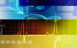 Blutzellen mit ECG Stockbilder
