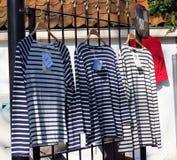 Bluza sportowa wykładająca Bretońska moda Obrazy Stock