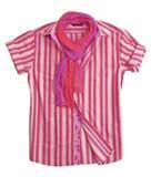 bluzka pasek różowy koszulowy jedwabniczy Obraz Stock
