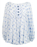 bluzki błękit jedwab Zdjęcie Stock