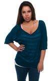 bluzki cyraneczka Zdjęcie Royalty Free