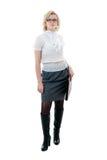 bluzki grey spódnicy białe kobiety Obraz Royalty Free