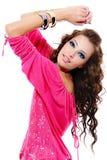 bluzki portreta czerwona elegancka kobieta fotografia stock