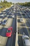 αυτοκινητόδρομος 405 κοντά στο ηλιοβασίλεμα Blvd στη ώρα κυκλοφοριακής αιχμής, Λος Άντζελες, Καλιφόρνια Στοκ Εικόνα