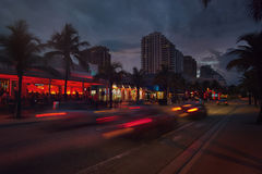 Blvd de plage de Fort Lauderdale Photographie stock