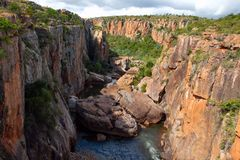 Blyde河峡谷 免版税图库摄影