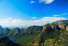 非洲blyde南峡谷的河 免版税库存图片
