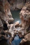 Blyde flodkanjon Sydafrika Arkivfoto
