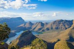 Blyde flodsjö, Sydafrika royaltyfri bild