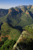 Blyde River Canyon. View of the Three Rondavels and the Blyde River Canyon Stock Photos