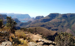 Blyde River Canyon. Image of the Blyde River Canyon showing tourists viewing point Royalty Free Stock Image