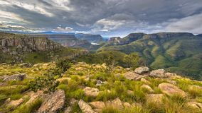 Blyde river canyon Lowveld viewpoint edit stock photography