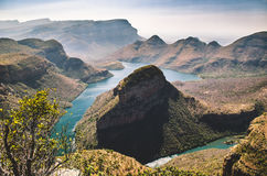 Blyde River Canyon, Mpumalanga region, South Africa. Blyde river canyon,  panorama to the canyon. Mpumalanga region near Graskop. South Africa landscape Stock Image